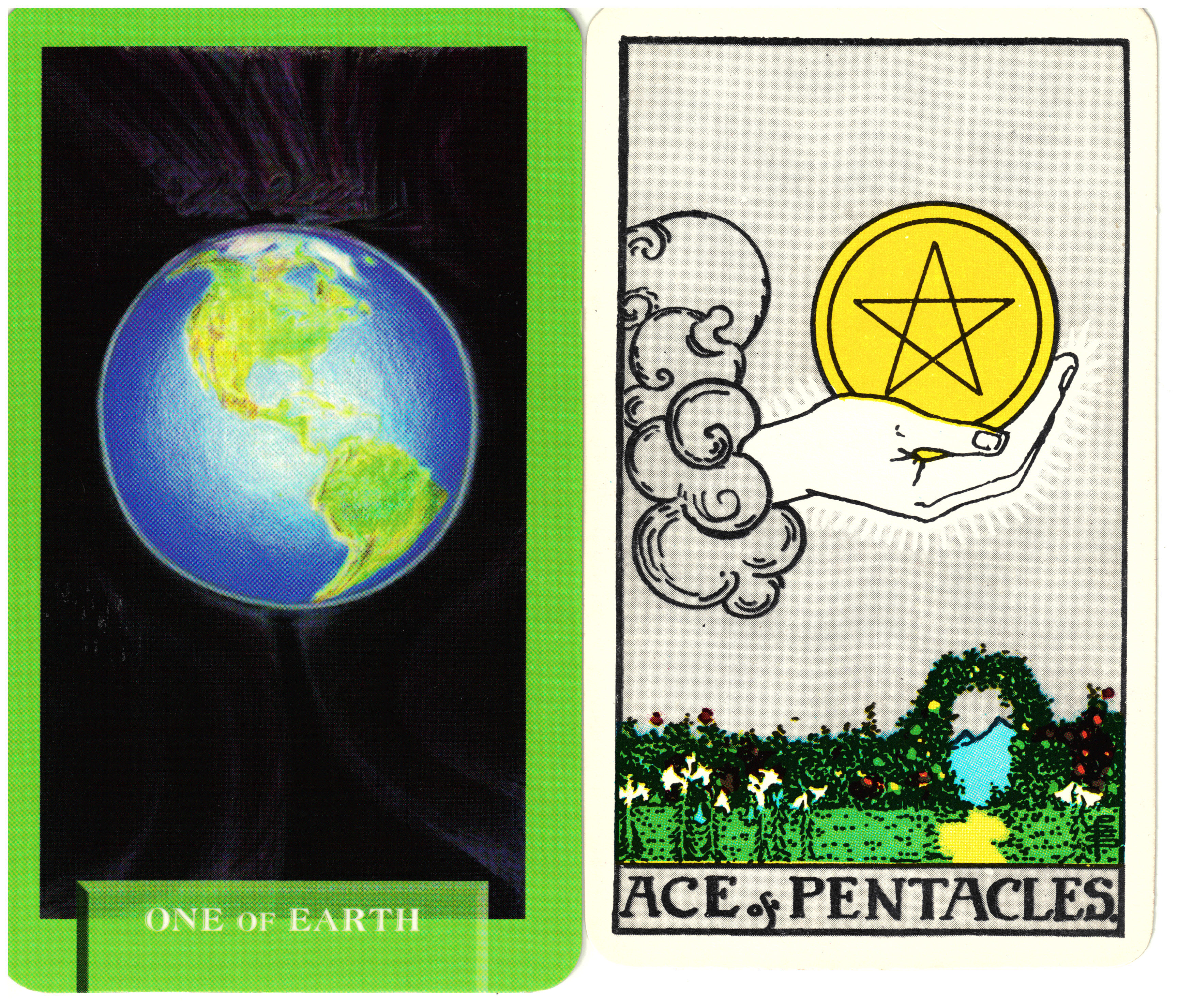 Today's Journey Tarot One of Earth – Ace of Pentacles